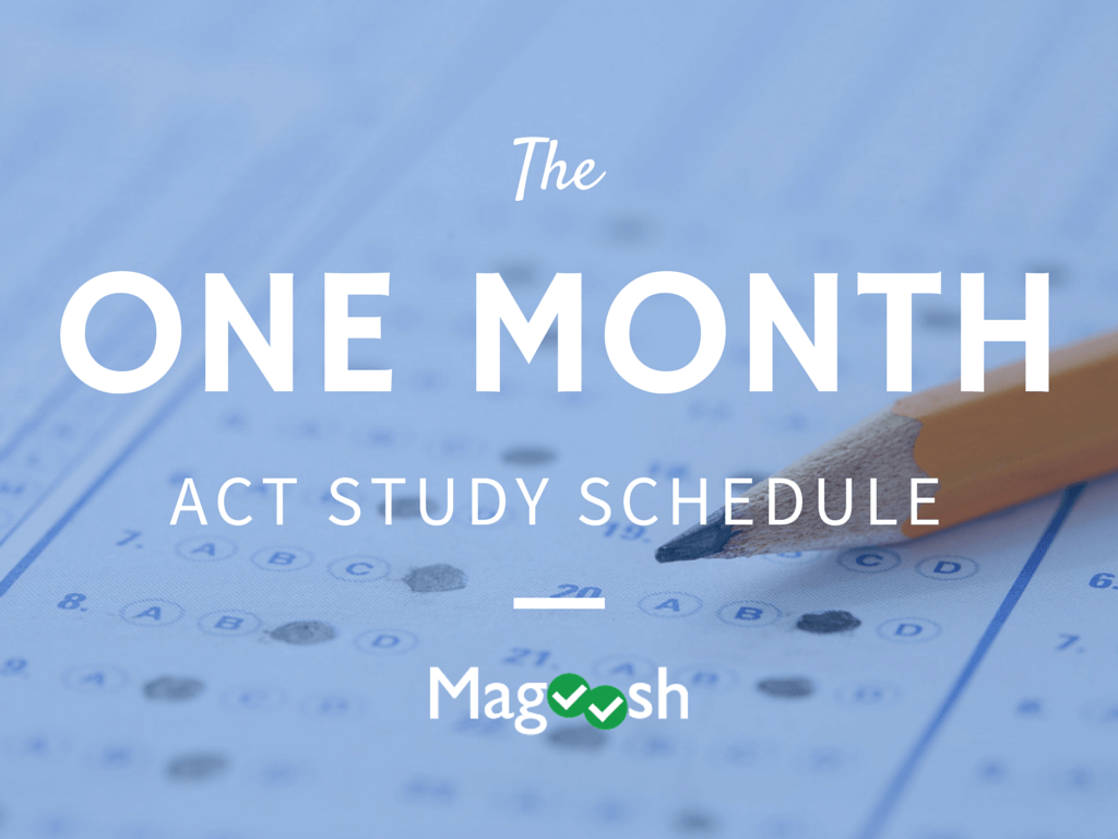 One Month ACT Study Schedule Banner