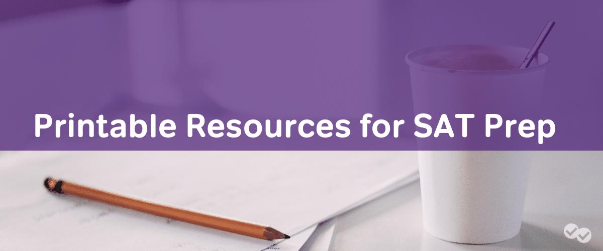 Printable Resources for SAT Prep - Magoosh High School Blog