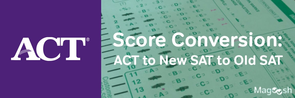 Act To New Sat To Old Sat Score Conversion Chart
